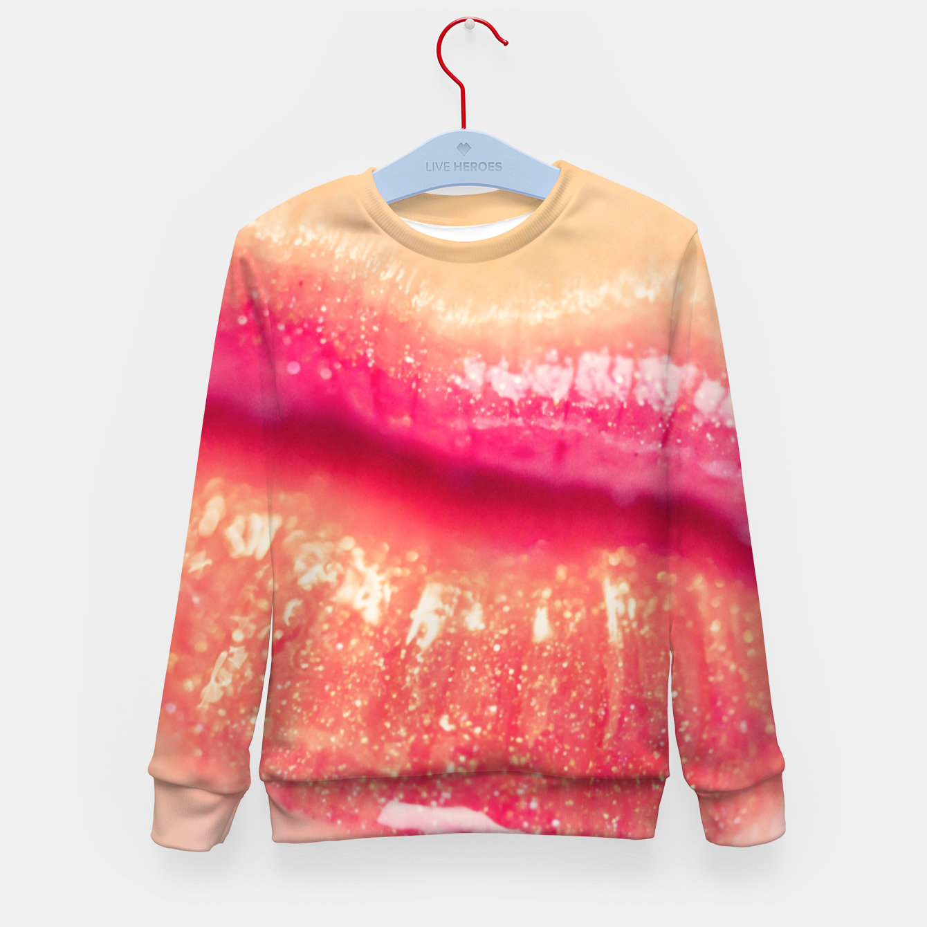 Image of lips #1 Kid's sweater - Live Heroes