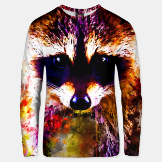 Miniatur raccoon watercolor splatters Unisex sweater, Live Heroes