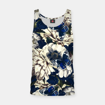 Miniatur night and day flowers butterflies pattern dark foggy Tank Top, Live Heroes