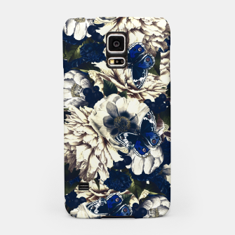 Miniatur night and day flowers butterflies pattern dark foggy Samsung Case, Live Heroes