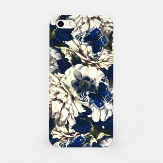 Miniatur night and day flowers butterflies pattern dark foggy iPhone Case, Live Heroes