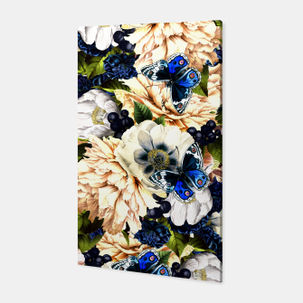 Miniaturka night and day flowers butterflies pattern Canvas, Live Heroes