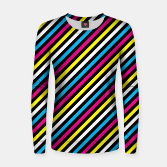 Thumbnail image of Colourfull Stripes Women sweater, Live Heroes