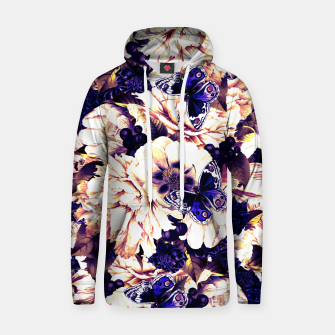 Miniatur night and day flowers butterflies pattern late sunset Hoodie, Live Heroes