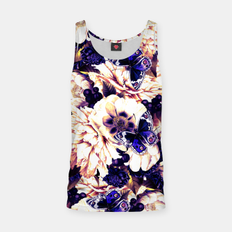 Miniatur night and day flowers butterflies pattern late sunset Tank Top, Live Heroes