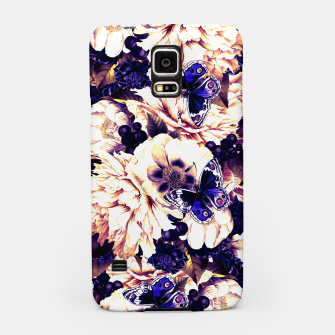 Miniatur night and day flowers butterflies pattern late sunset Samsung Case, Live Heroes