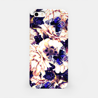 Miniatur night and day flowers butterflies pattern late sunset iPhone Case, Live Heroes
