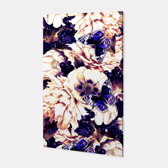 Thumbnail image of night and day flowers butterflies pattern late sunset Canvas, Live Heroes