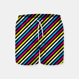 Thumbnail image of Colourfull Stripes Swim Shorts, Live Heroes