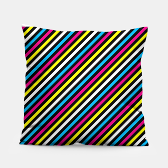 Thumbnail image of Colourfull Stripes Pillow, Live Heroes