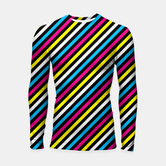 Thumbnail image of Colourfull Stripes Longsleeve rashguard , Live Heroes