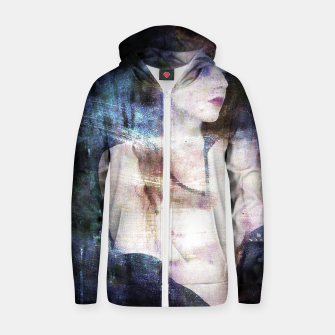 Thumbnail image of woman in chains Zip up hoodie, Live Heroes