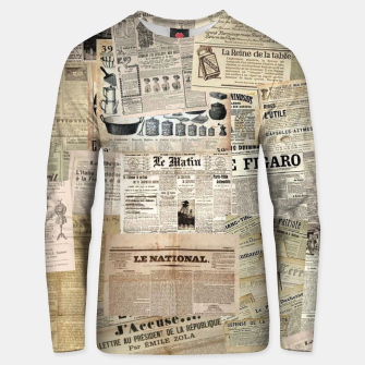newspaper Unisex sweater thumbnail image