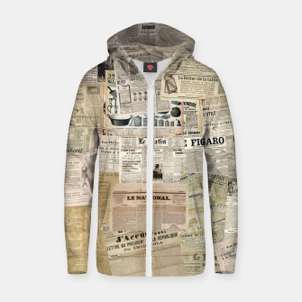newspaper Zip up hoodie thumbnail image