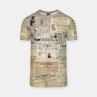 Thumbnail image of newspaper T-shirt, Live Heroes