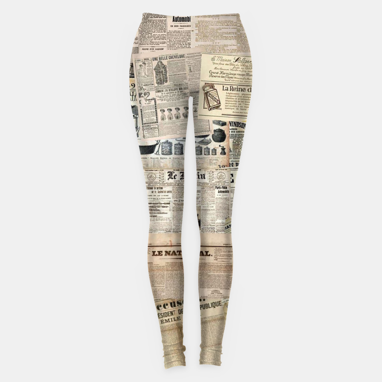 Image of newspaper Leggings - Live Heroes