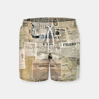 Thumbnail image of newspaper Swim Shorts, Live Heroes