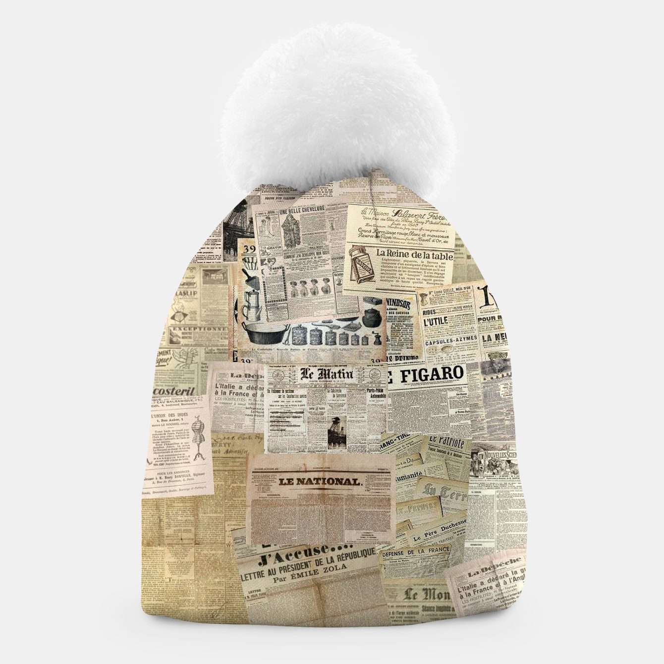 Image of newspaper Beanie - Live Heroes