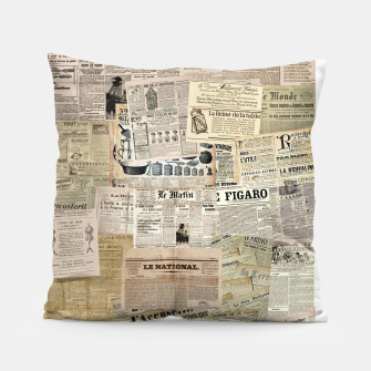 Thumbnail image of newspaper Pillow, Live Heroes