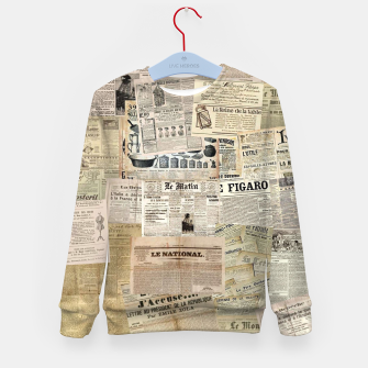 newspaper Kid's sweater thumbnail image