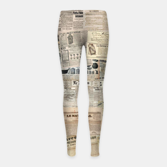 newspaper Girl's leggings thumbnail image