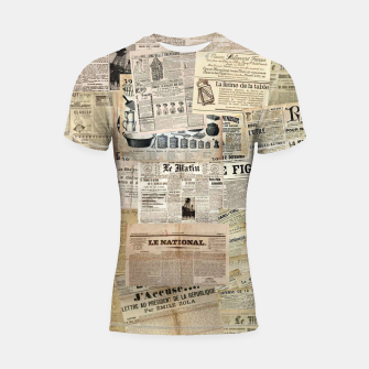 Thumbnail image of newspaper Shortsleeve rashguard, Live Heroes