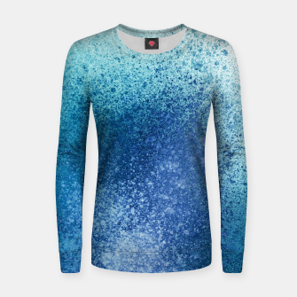 Thumbnail image of Aqua Blue Blends Spray Paint Art Women sweater, Live Heroes