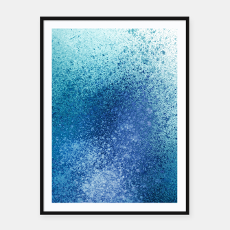 Thumbnail image of Aqua Blue Blends Spray Paint Art Framed poster, Live Heroes