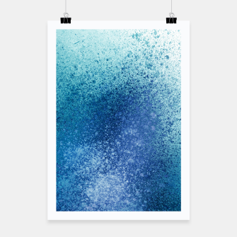 Thumbnail image of Aqua Blue Blends Spray Paint Art Poster, Live Heroes