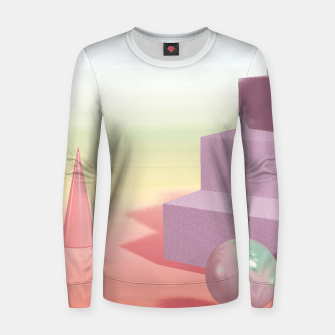 Thumbnail image of 3D abstract space Women sweater, Live Heroes