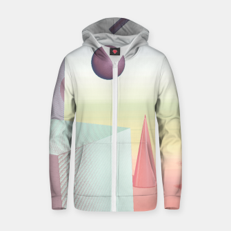 Thumbnail image of 3D abstract space Zip up hoodie, Live Heroes