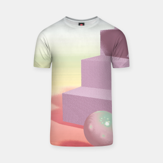 Thumbnail image of 3D abstract space T-shirt, Live Heroes
