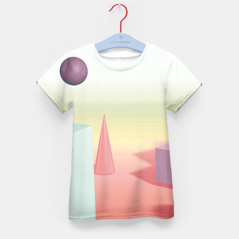 Thumbnail image of 3D abstract space Kid's t-shirt, Live Heroes