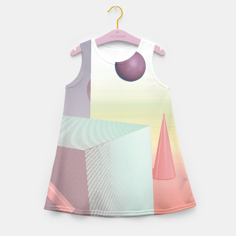 Thumbnail image of 3D abstract space Girl's summer dress, Live Heroes
