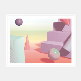 Thumbnail image of 3D abstract space Framed poster, Live Heroes
