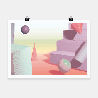 Thumbnail image of 3D abstract space Poster, Live Heroes