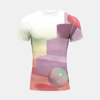 Thumbnail image of 3D abstract space Shortsleeve rashguard, Live Heroes
