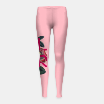 Thumbnail image of GRL PWR Girl's leggings, Live Heroes