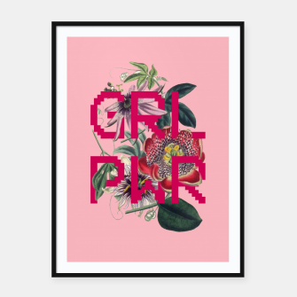 Thumbnail image of GRL PWR Framed poster, Live Heroes
