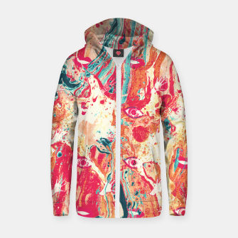 Thumbnail image of Senses pouring III Zip up hoodie, Live Heroes