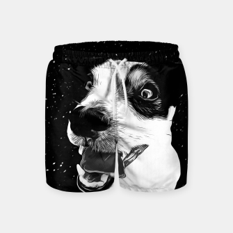 jack russell terrier dog space crazy va bw Swim Shorts thumbnail image