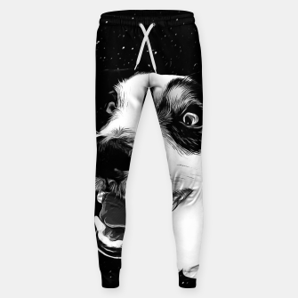 jack russell terrier dog space crazy va bw Sweatpants thumbnail image