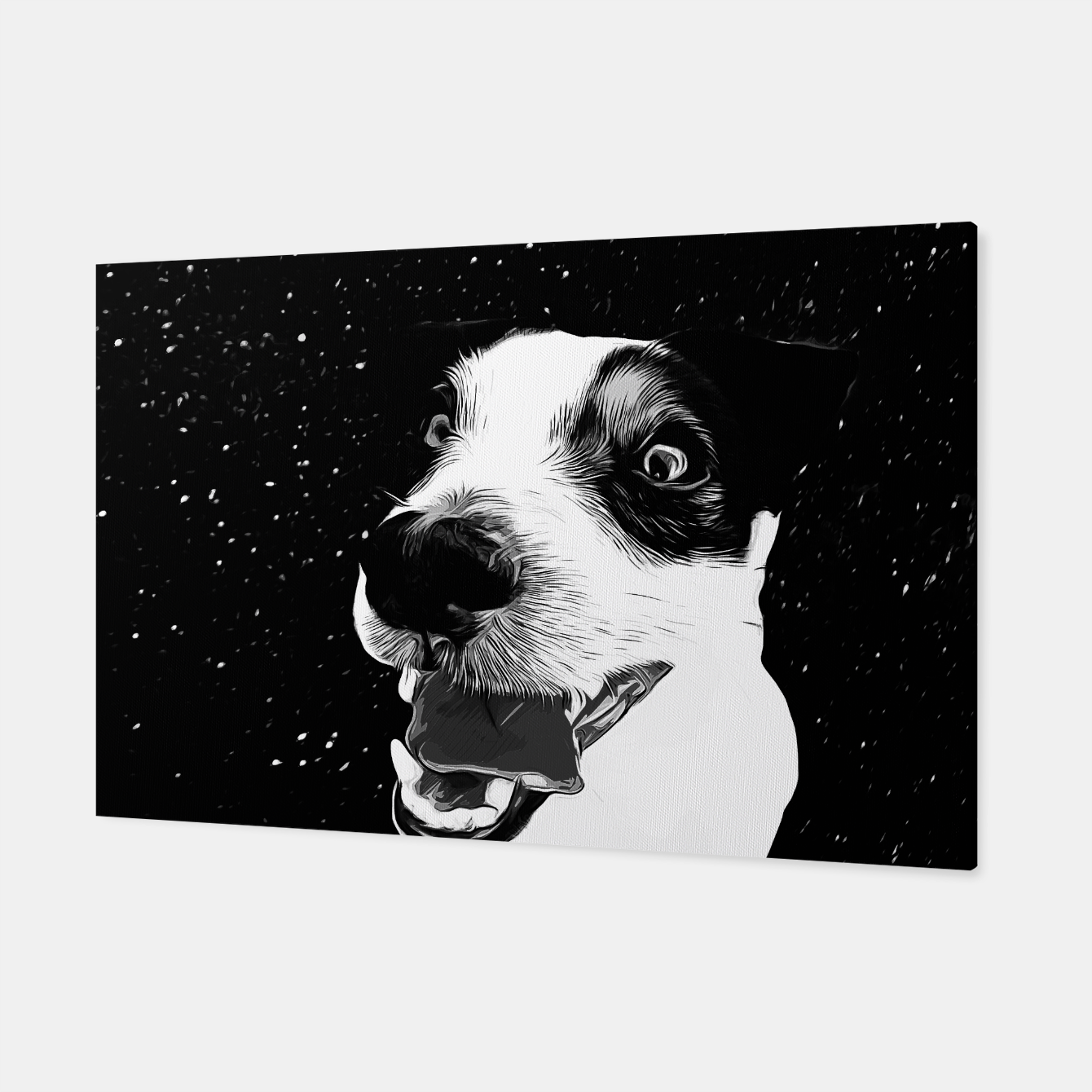 Image of jack russell terrier dog space crazy va bw Canvas - Live Heroes