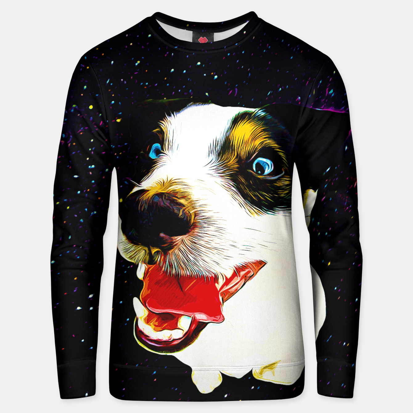 Image of jack russell terrier dog space crazy va Unisex sweater - Live Heroes