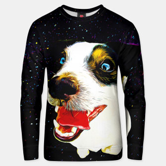 jack russell terrier dog space crazy va Unisex sweater thumbnail image
