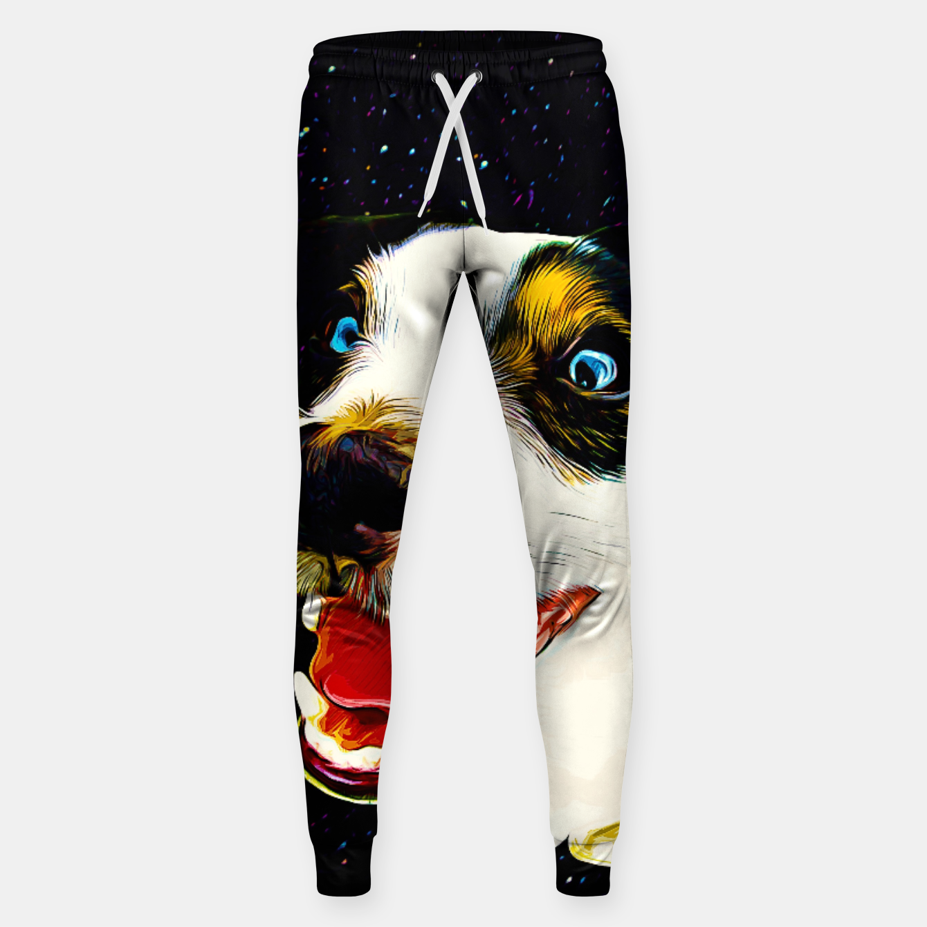 Image of jack russell terrier dog space crazy va Sweatpants - Live Heroes