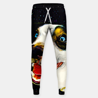 jack russell terrier dog space crazy va Sweatpants thumbnail image
