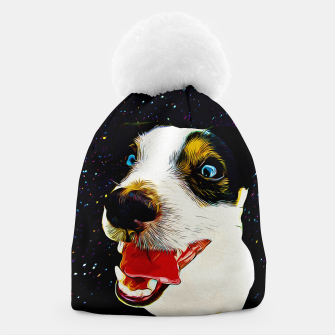 jack russell terrier dog space crazy va Beanie thumbnail image