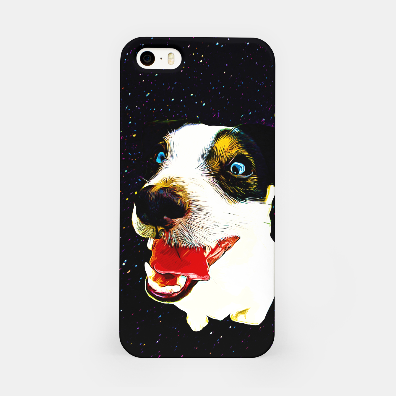 Image of jack russell terrier dog space crazy va iPhone Case - Live Heroes