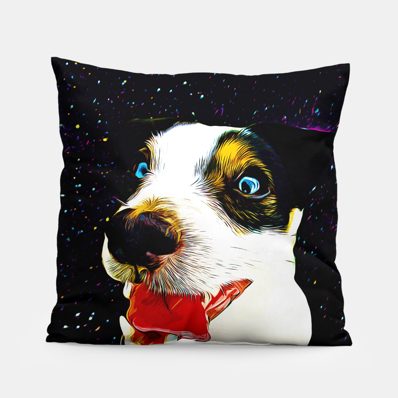 Image of jack russell terrier dog space crazy va Pillow - Live Heroes
